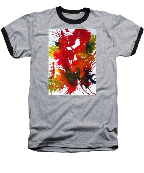 Abstract - Riot Of Fall Color II - Autumn Baseball T-Shirt by Ellen Levinson