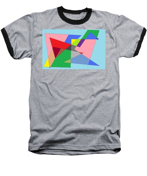 Abstract Baseball T-Shirt by Ron Davidson