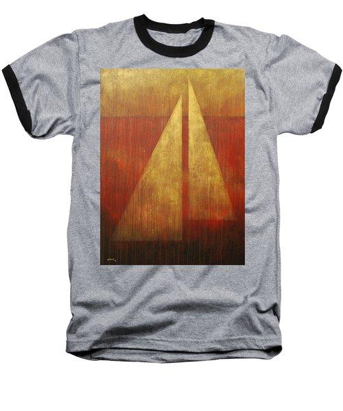 Abstract Sail Baseball T-Shirt