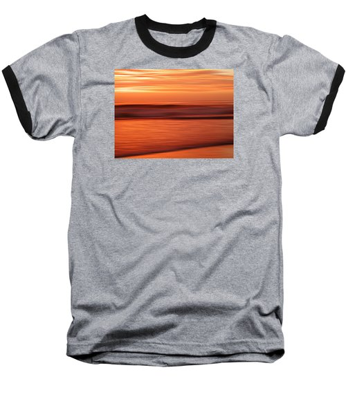 Abstract Seascape At Sunset Baseball T-Shirt