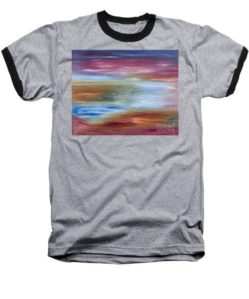 Abstract Seascape Baseball T-Shirt
