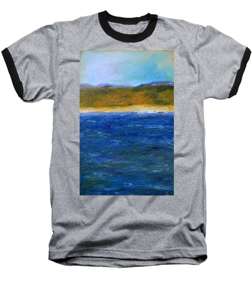 Abstract Shoreline Baseball T-Shirt
