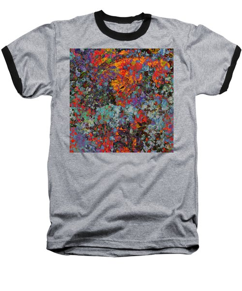Baseball T-Shirt featuring the mixed media Abstract Spring by Ally  White