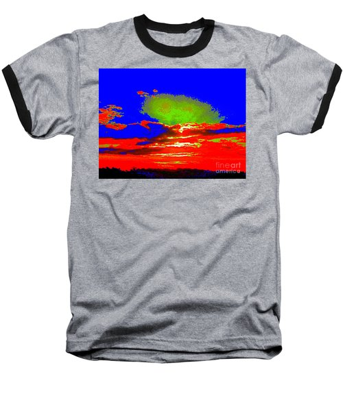 Abstract Sunset Orange Blue Green And So On Baseball T-Shirt