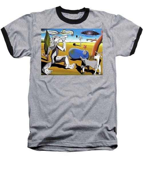 Abstract Surrealism Baseball T-Shirt