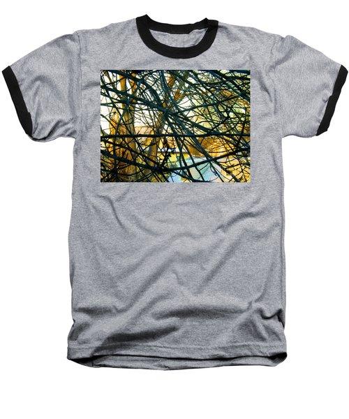 Abstract Tree Baseball T-Shirt