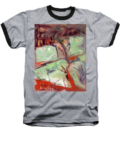 Abstract With Cadmium Red Baseball T-Shirt
