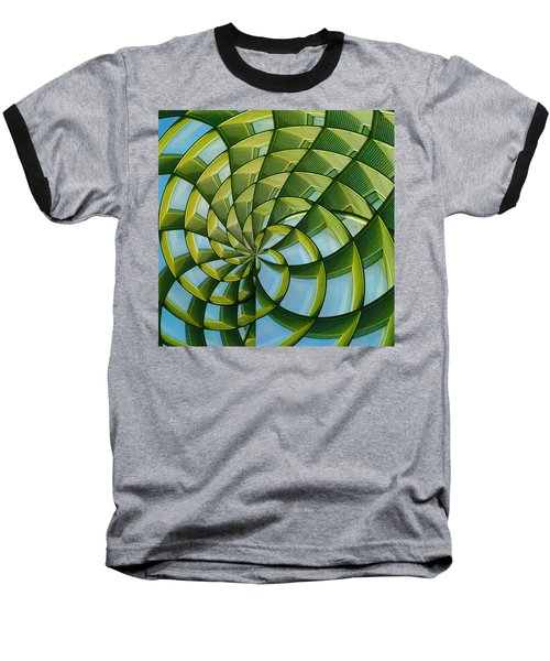 Abstraction A La M. C. Escher Baseball T-Shirt by Gary Holmes