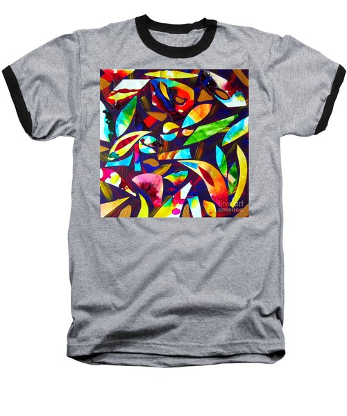 Abstraction And Colorful Thoughts Baseball T-Shirt