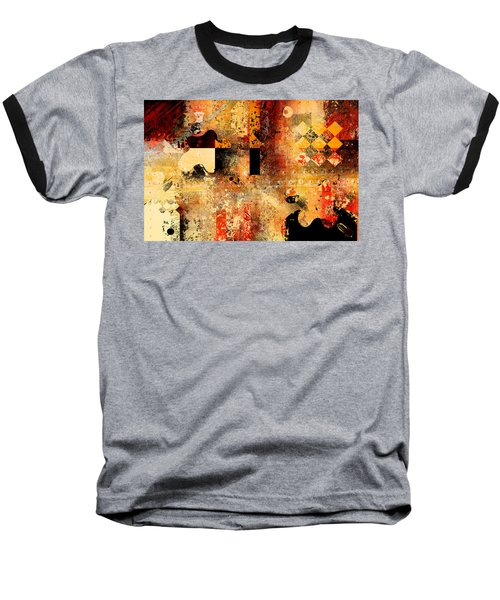 Abstracture - 103106046f Baseball T-Shirt by Variance Collections