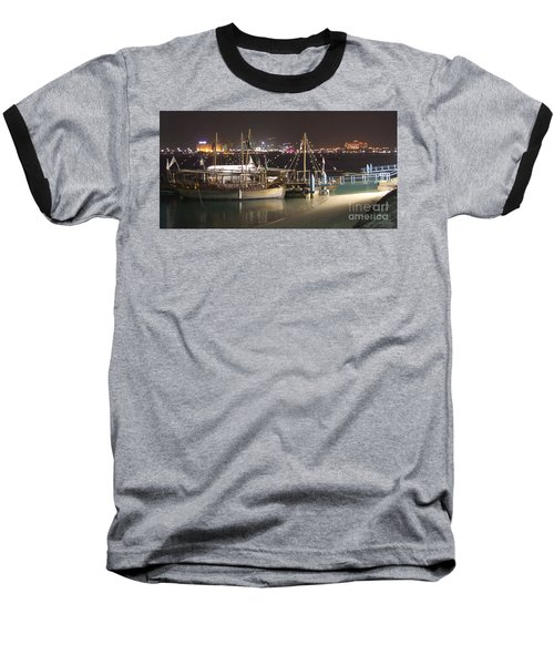 Baseball T-Shirt featuring the photograph Abu Dhabi At Night by Andrea Anderegg