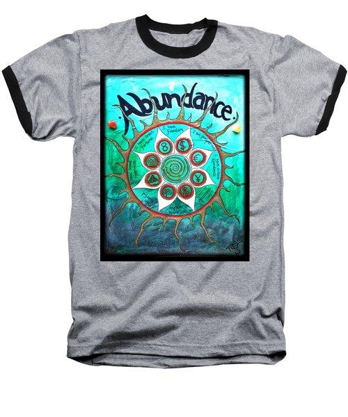 Abundance Money Magnet - Healing Art Baseball T-Shirt