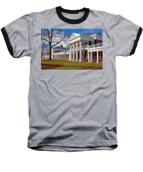 Academical Village At The University Of Virginia Baseball T-Shirt by Melinda Fawver