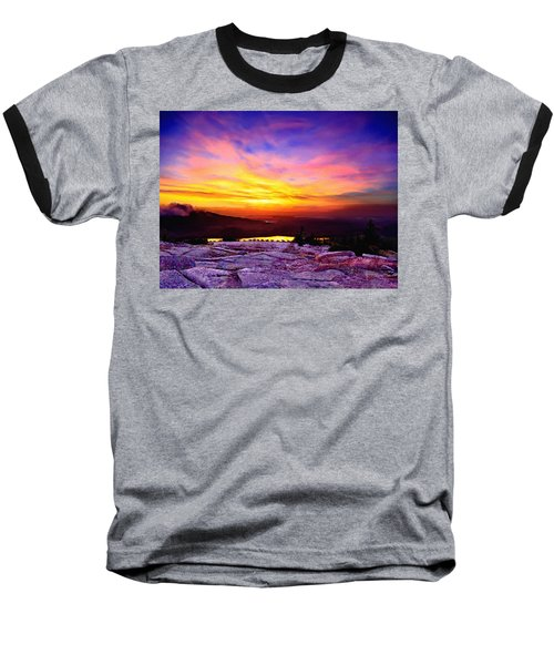 Acadia National Park Cadillac Mountain Sunrise Forsale Baseball T-Shirt by Bob and Nadine Johnston
