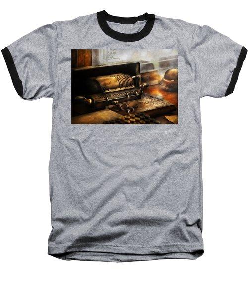 Accountant - The Adding Machine Baseball T-Shirt by Mike Savad