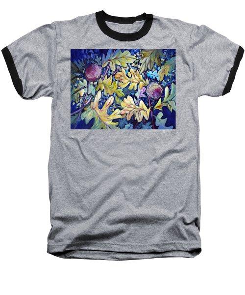 Acorns And Oak Leaves Baseball T-Shirt