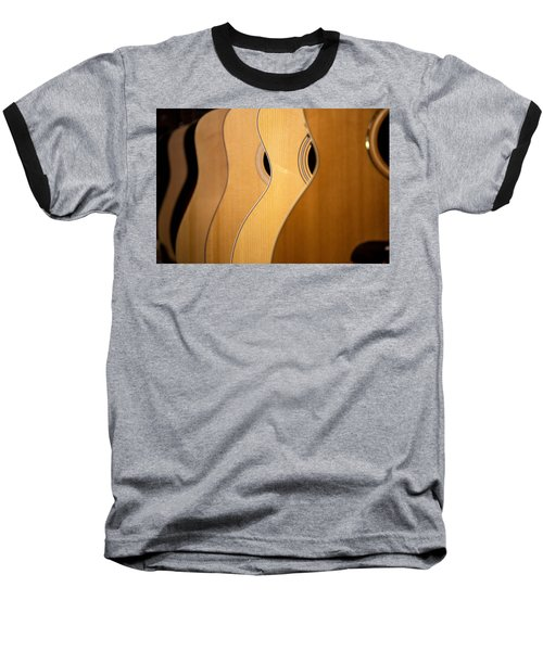 Acoustic Design Baseball T-Shirt by John Rivera