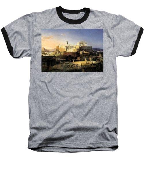 Acropolis Of Athens Baseball T-Shirt