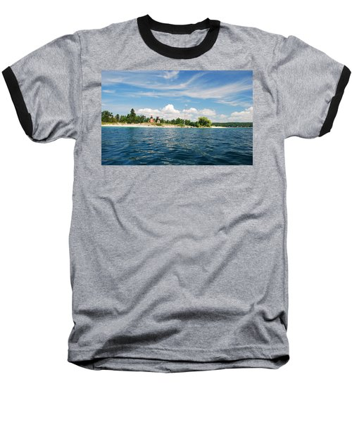Across The Bay To The Light Baseball T-Shirt by Janice Adomeit