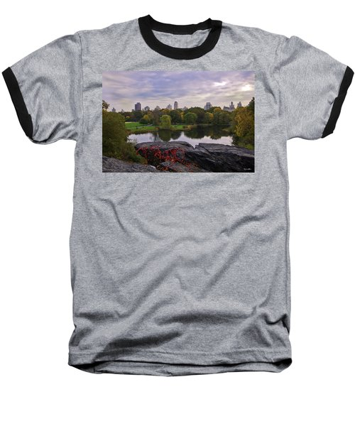 Across The Pond 2 - Central Park - Nyc Baseball T-Shirt by Madeline Ellis