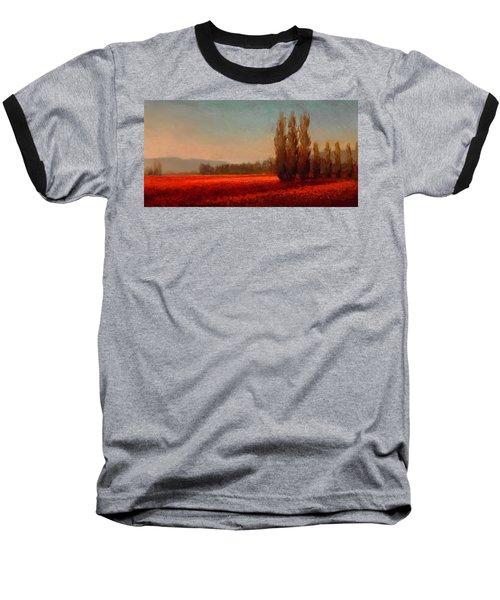 Across The Tulip Field - Horizontal Landscape Baseball T-Shirt