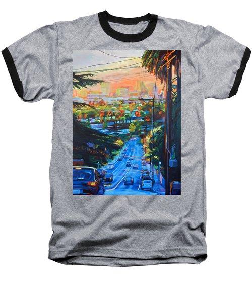 Towards The Light Baseball T-Shirt by Bonnie Lambert