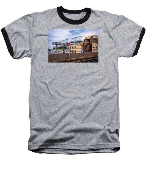 Addison Street Station Baseball T-Shirt by Tom Gort