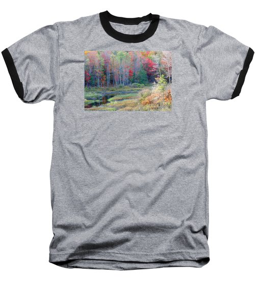 Baseball T-Shirt featuring the photograph Adirondack Fall by Mariarosa Rockefeller