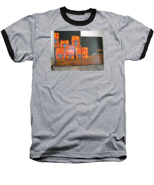 Baseball T-Shirt featuring the painting Adobes by Sharyn Winters
