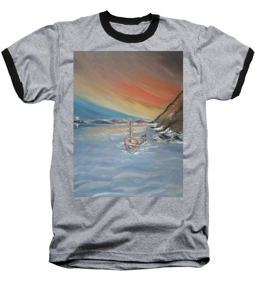 Baseball T-Shirt featuring the painting Adrift by Teresa White