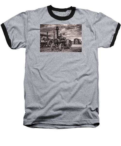 Advance Steam Traction Engine Baseball T-Shirt by Shelly Gunderson