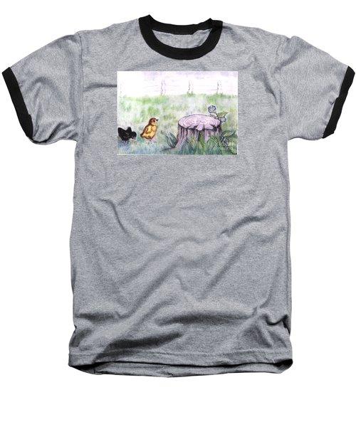 Adventurous Chicks Baseball T-Shirt by Francine Heykoop