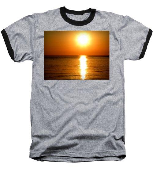 Baseball T-Shirt featuring the photograph Aegean Sunset by Micki Findlay