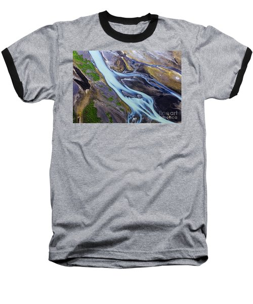 Aerial Photo Of Iceland  Baseball T-Shirt