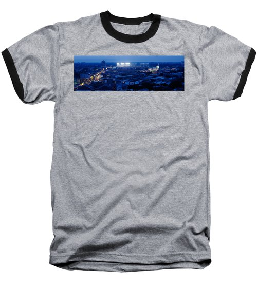 Aerial View Of A City, Wrigley Field Baseball T-Shirt by Panoramic Images