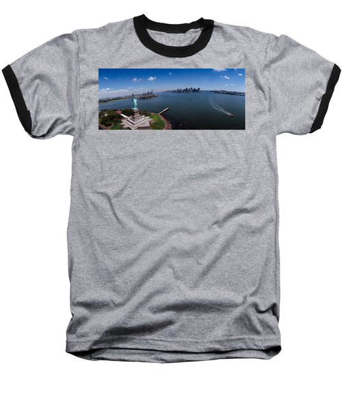 Aerial View Of A Statue, Statue Baseball T-Shirt