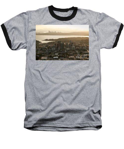 Aerial View Of Bellevue Skyline Baseball T-Shirt