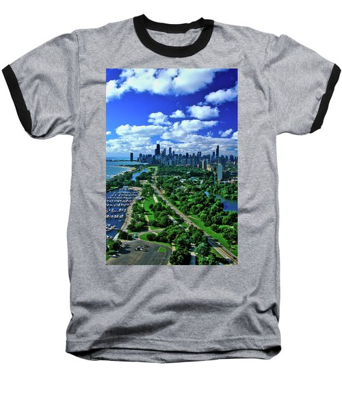 Aerial View Of Chicago, Illinois Baseball T-Shirt