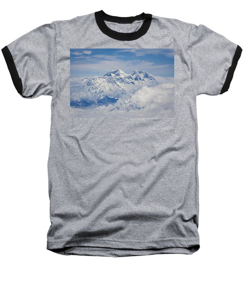 Aerial View Of Mount Everest Baseball T-Shirt