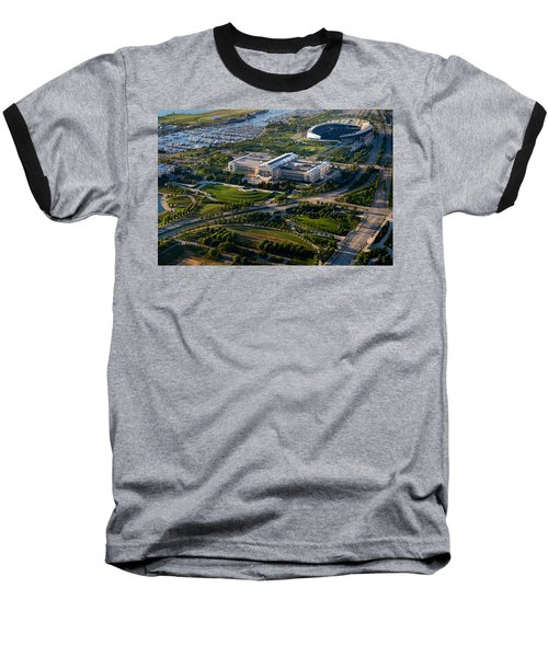 Aerial View Of The Field Museum Baseball T-Shirt by Panoramic Images