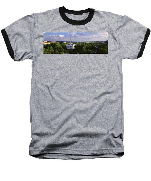 Aerial, White House, Washington Dc Baseball T-Shirt
