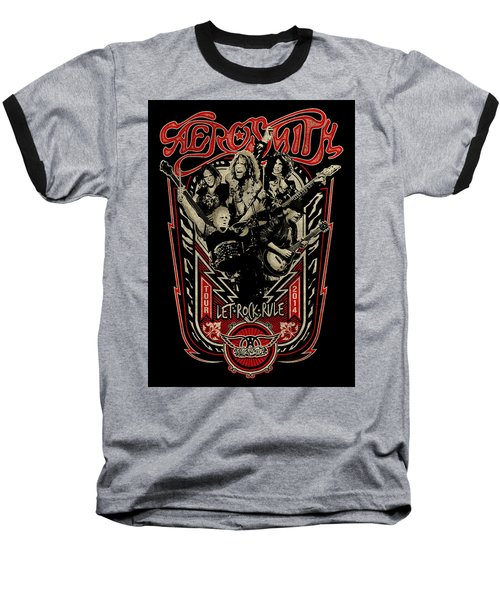 Aerosmith - Let Rock Rule World Tour Baseball T-Shirt by Epic Rights
