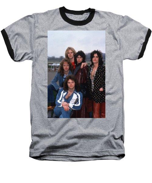 Aerosmith - Terre Haute 1977 Baseball T-Shirt by Epic Rights