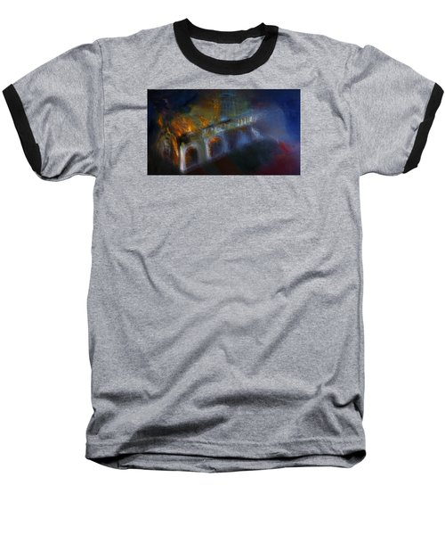 Baseball T-Shirt featuring the painting Aflame by Lisa Kaiser