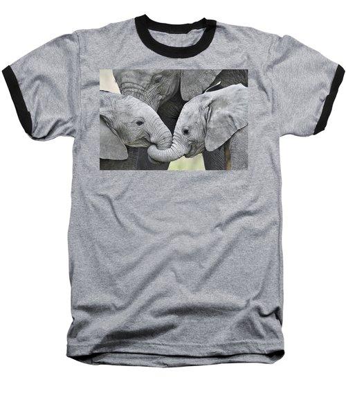 African Elephant Calves Loxodonta Baseball T-Shirt