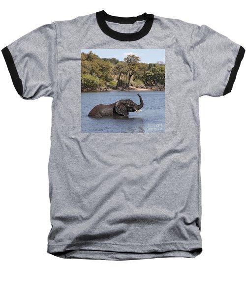 African Elephant In Chobe River  Baseball T-Shirt