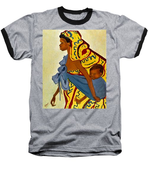 African Mother And Child Baseball T-Shirt