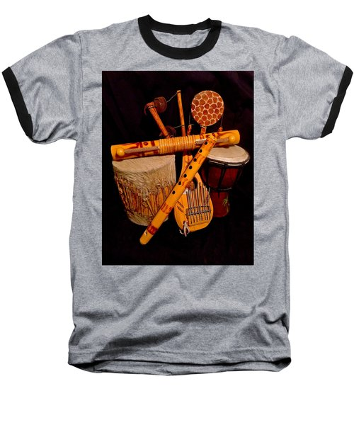 African Musical Instruments Baseball T-Shirt