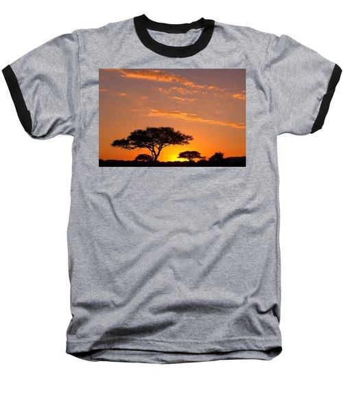 African Sunset Baseball T-Shirt by Sebastian Musial