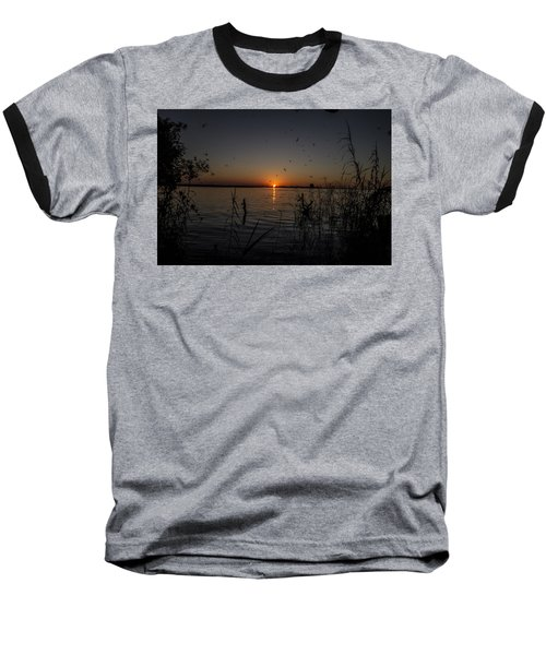 African Sunset Baseball T-Shirt